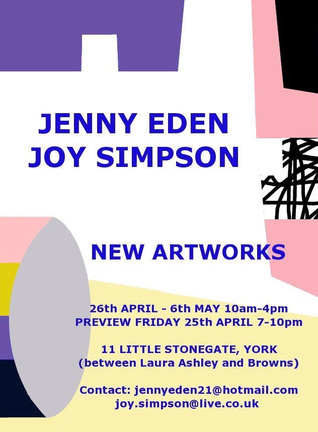 New Artworks Poster- jenny eden
